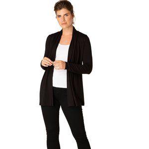 Yest Yessica Short Cardigan Sweater Knit Black